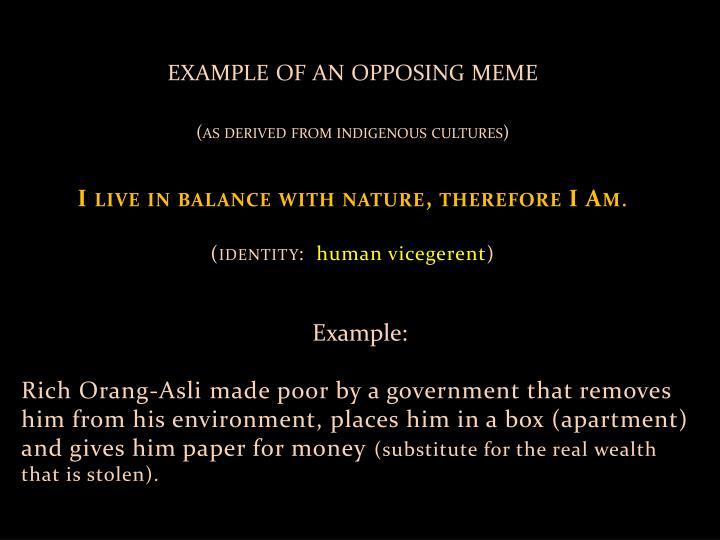 example of an opposing meme