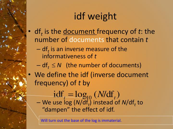 idf weight