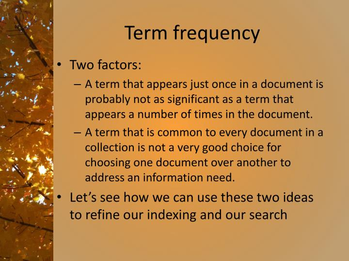 Term frequency1