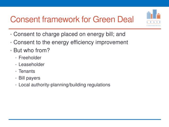 Consent framework for Green Deal