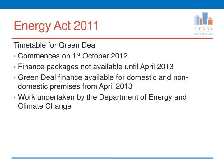 Energy Act 2011