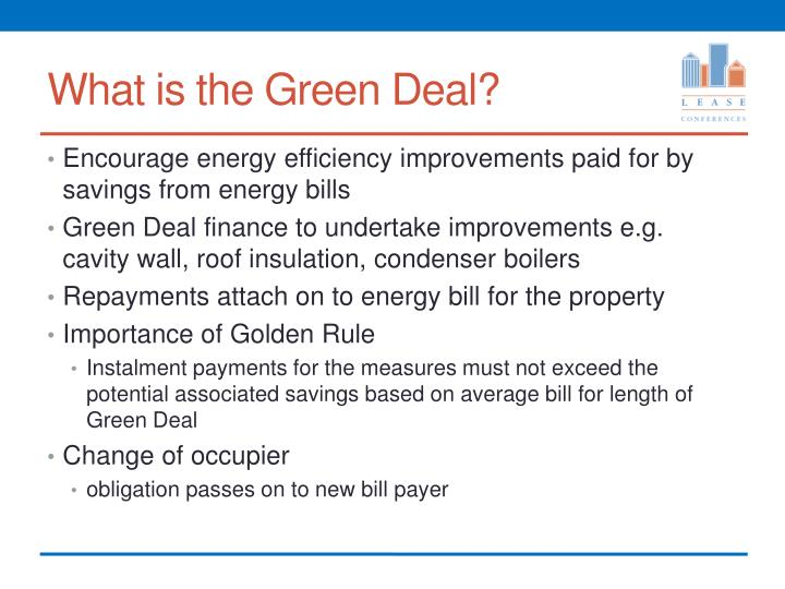 What is the Green Deal?