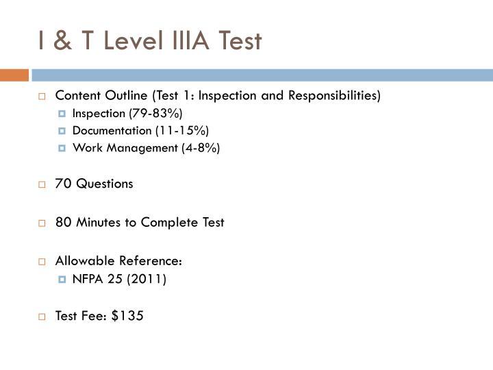 I & T Level IIIA Test