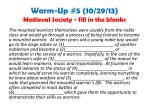 warm up 5 10 29 13 medieval society fill in the blanks