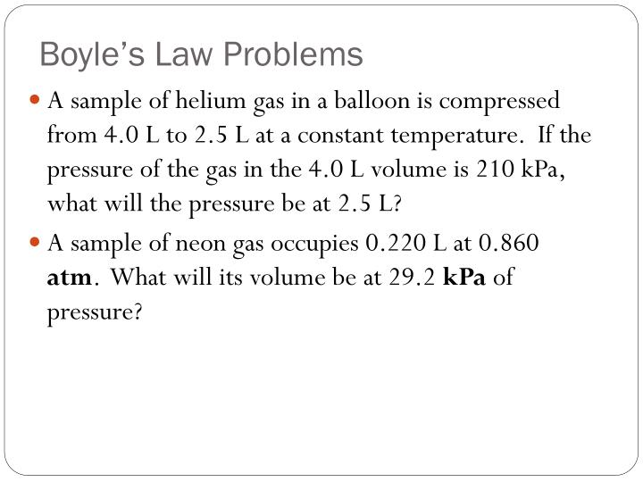 Boyle's Law Problems