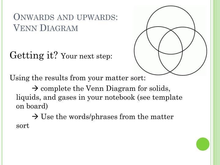 Onwards and upwards: