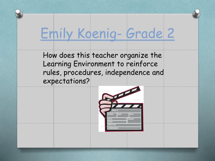 Emily Koenig- Grade 2