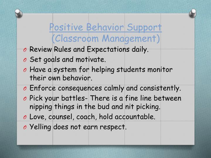 positive behavior support teacher interview How to answer 6 common teacher interview questions tweet: you use lots of positive only students who have committed very serious behavior problems should be.