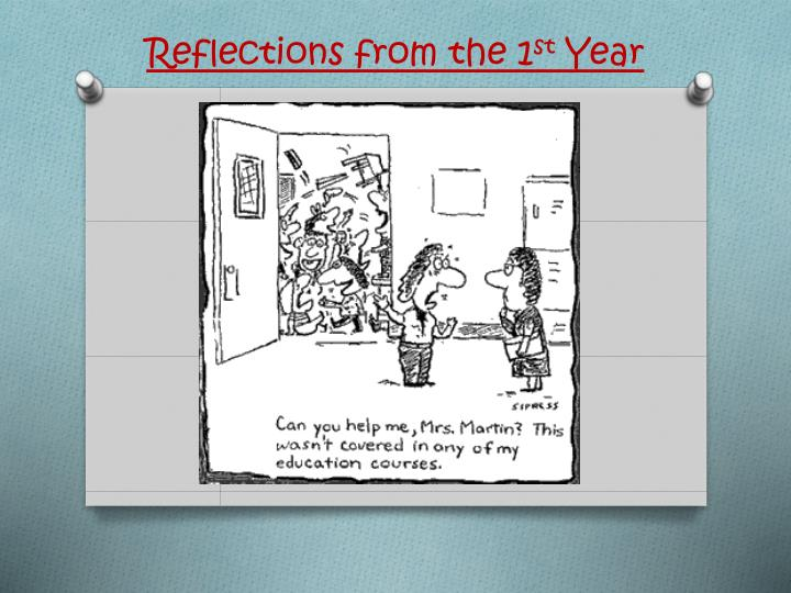 reflections from the 1 st year