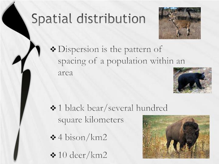 Spatial distribution