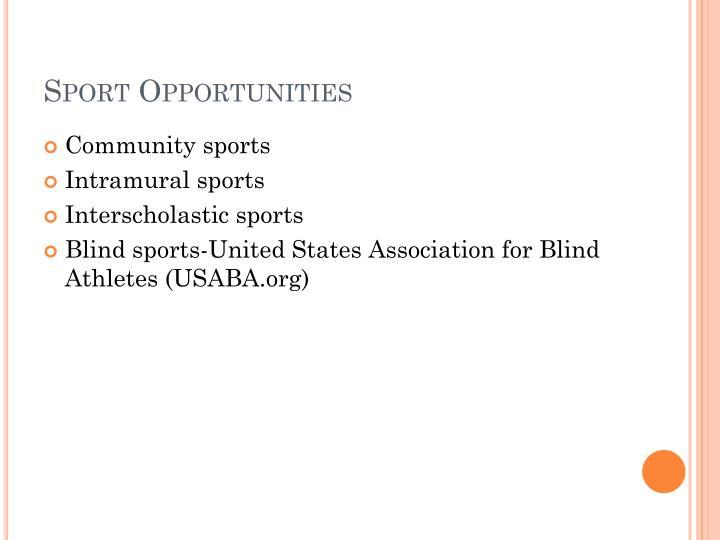 Sport Opportunities