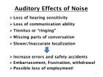 auditory effects of noise