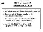 noise hazard identification