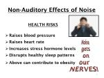 non auditory effects of noise
