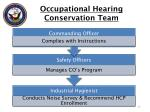 occupational hearing conservation team