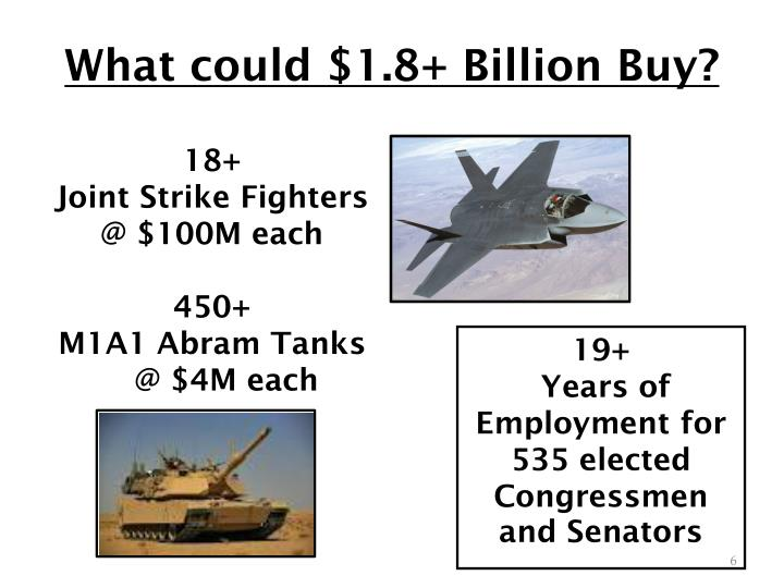 What could $1.8+ Billion Buy?