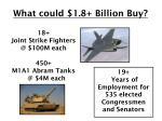 what could 1 8 billion buy