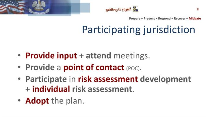 Participating jurisdiction