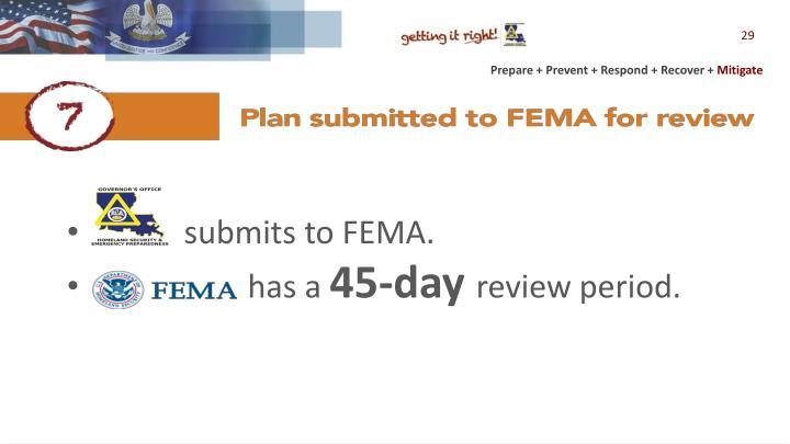 submits to FEMA.