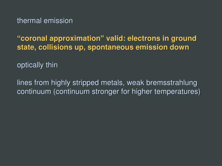 thermal emission