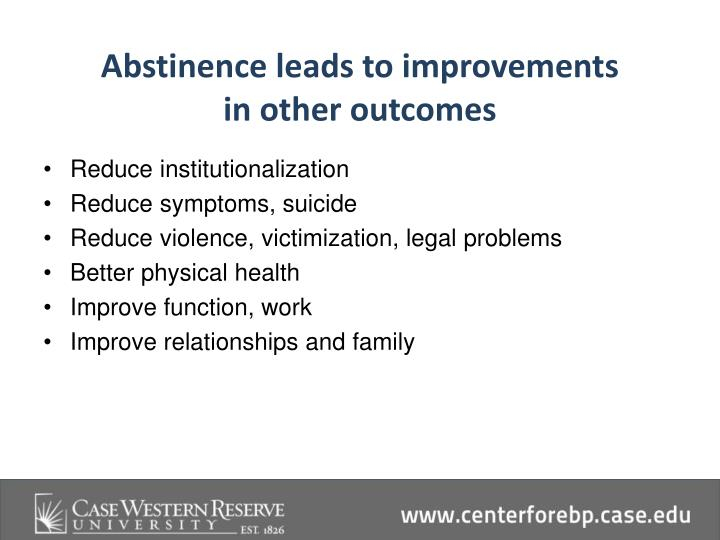 Abstinence leads to improvements