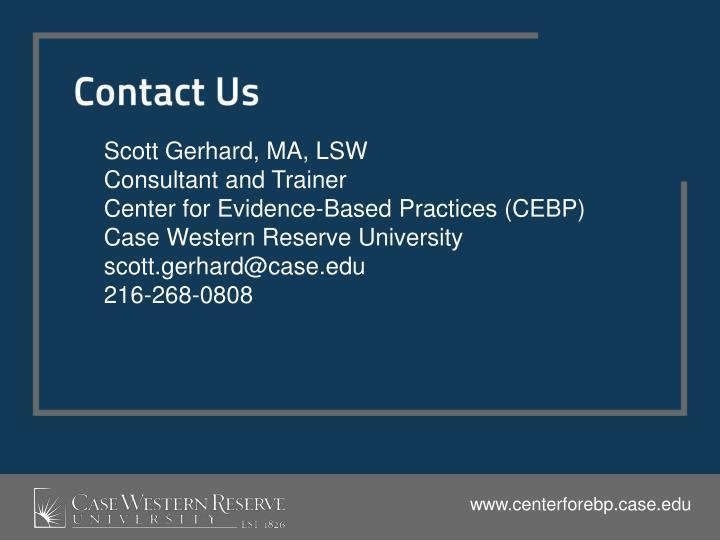 Scott Gerhard, MA, LSW