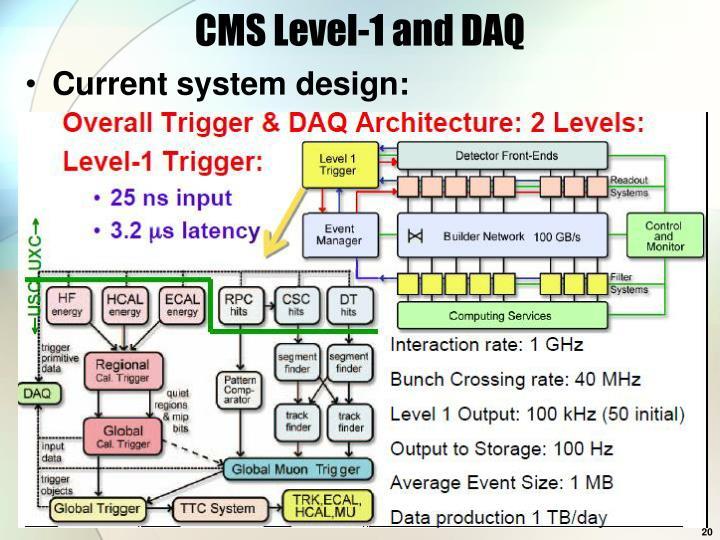 CMS Level-1 and DAQ