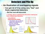 detectors and pile up