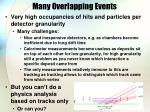 many overlapping events1