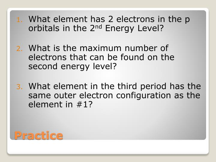What element has 2 electrons in the p orbitals in the 2