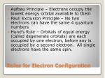 rules for electron configuration