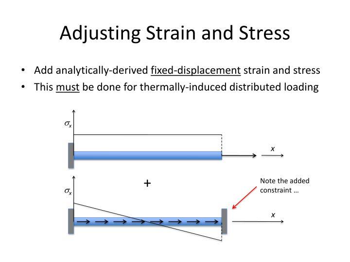 Adjusting Strain and Stress