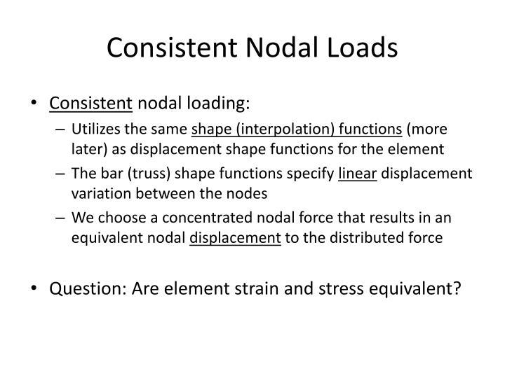 Consistent Nodal Loads