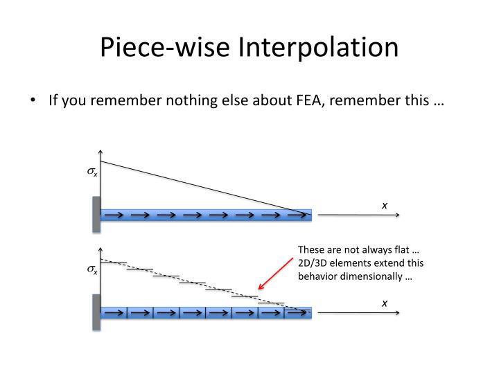 Piece-wise Interpolation