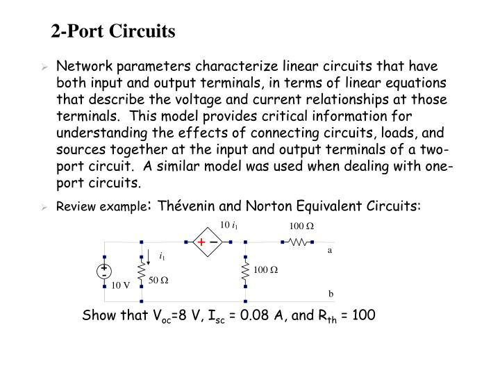 2-Port Circuits