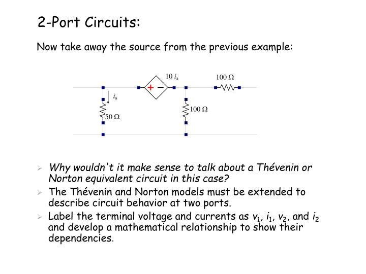 2-Port Circuits: