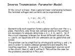 inverse transmission parameter model