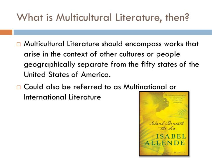 What is Multicultural Literature, then?