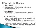 fe results in abaqus