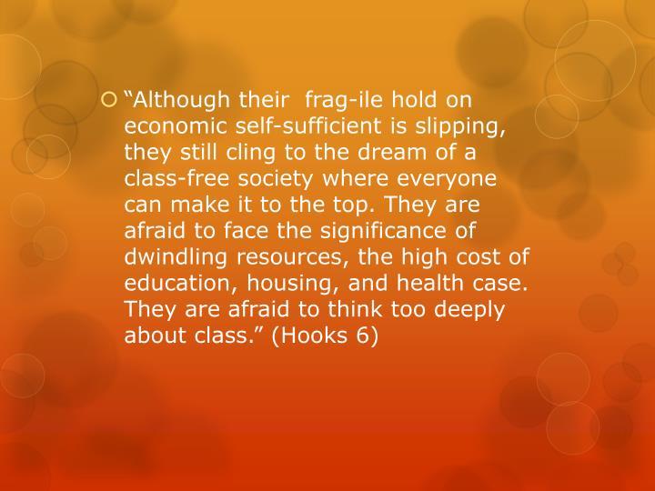 """Although their  frag-"