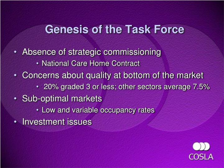 Absence of strategic commissioning