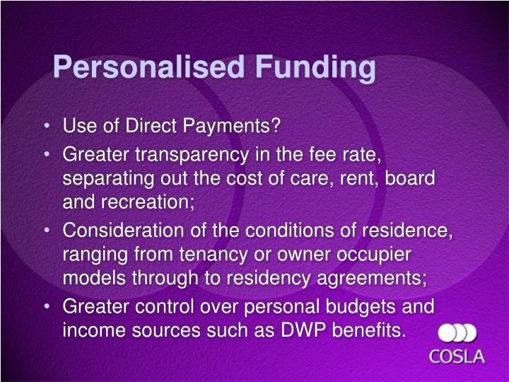 Personalised Funding