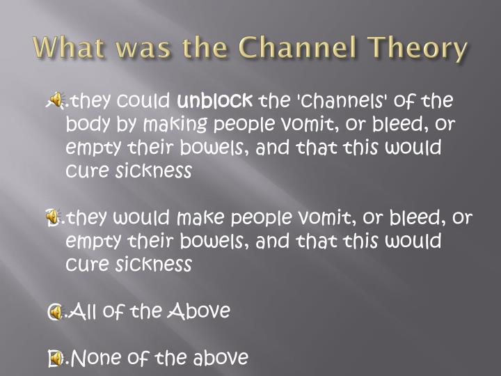 What was the Channel Theory