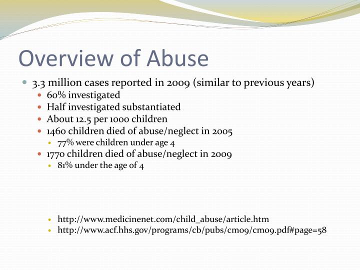 Overview of abuse