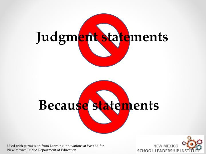 Judgment statements