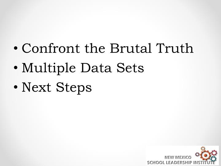 Confront the Brutal Truth