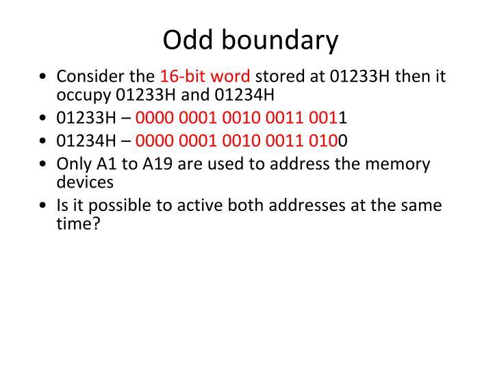 Odd boundary