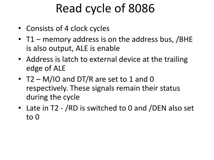 Read cycle of 8086