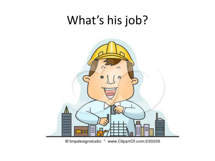 What's his job?