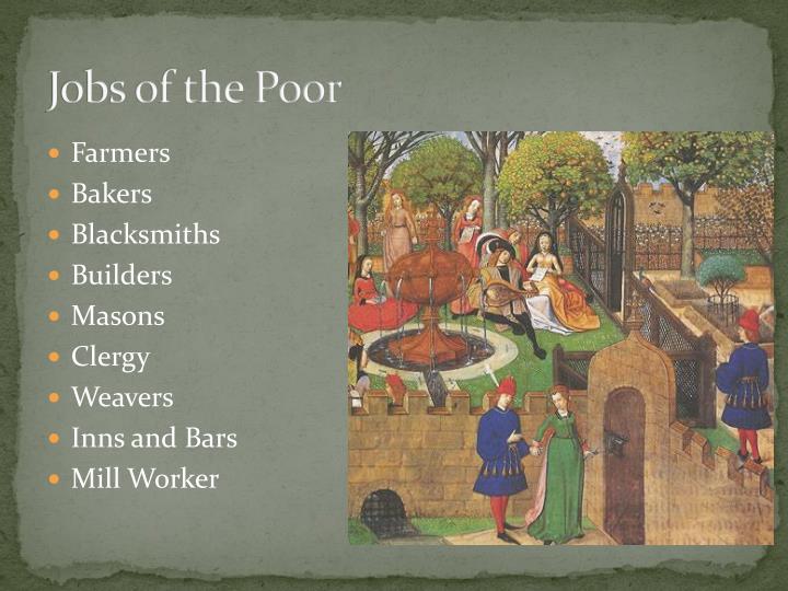 Jobs of the Poor